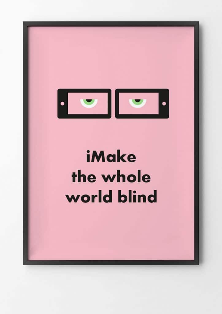 iPhone, make the whole world blind, Gandhi