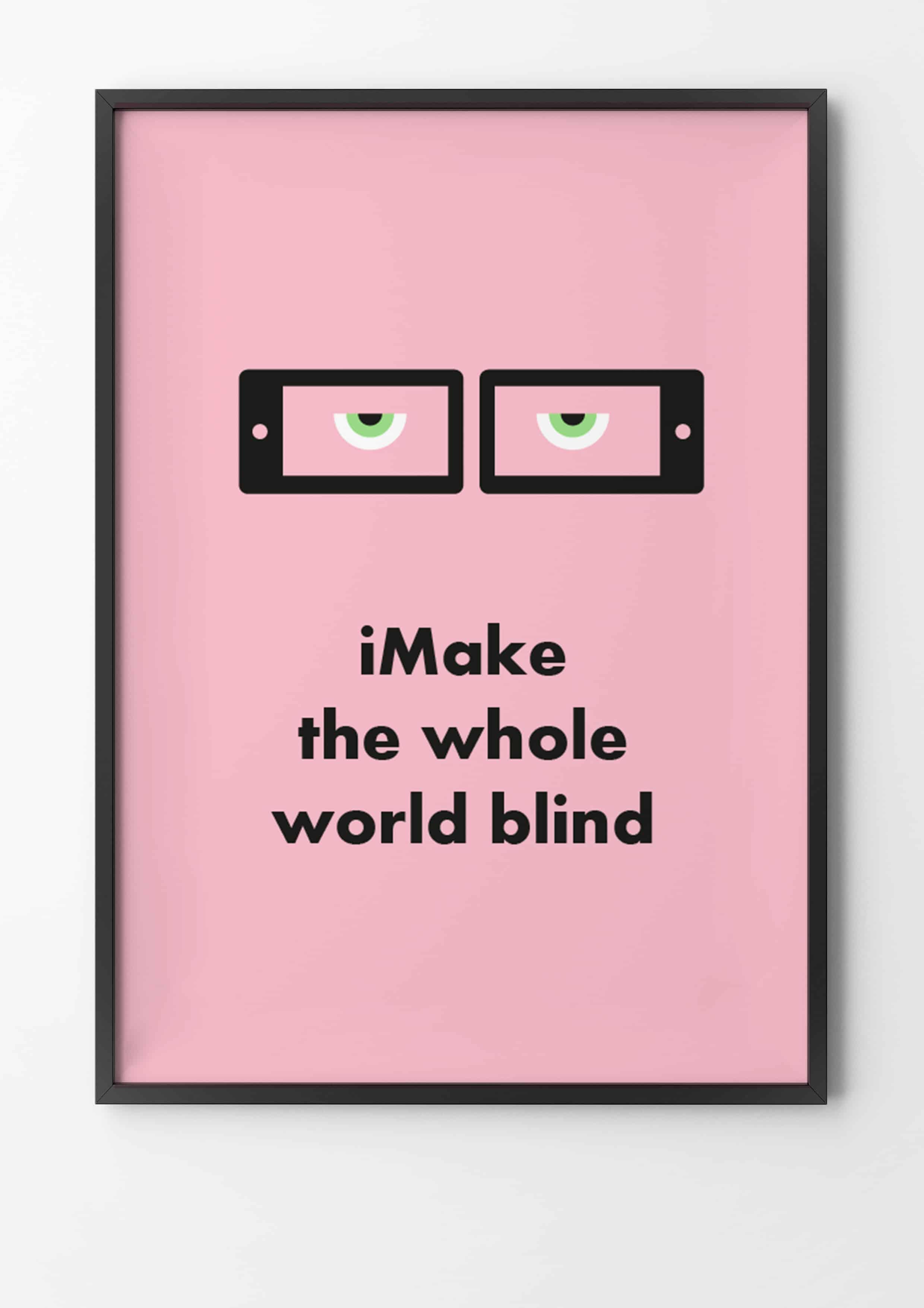 iPhone, make the whole world blind, Gandhi