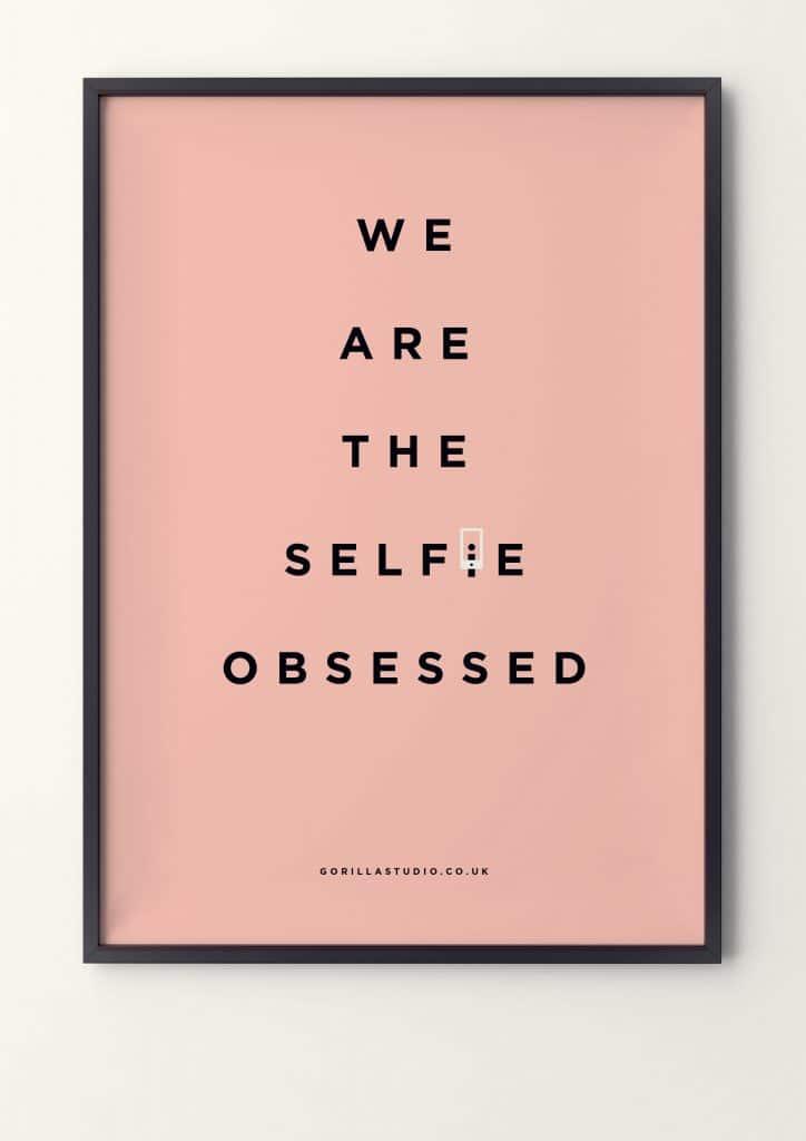 Poster design Selfie Obsessed