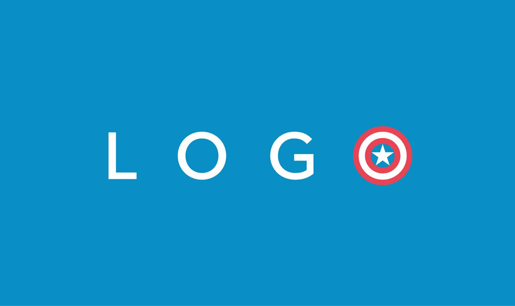 Logo Design: Superhero logo design, Captain America