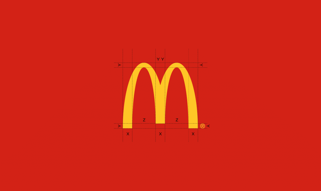 Mcdonald's logo grid contruction